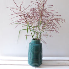 Large Green Ribbed Vase by Grand Illusions