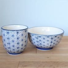 Sashiko Cups and Bowls by Sass & Belle