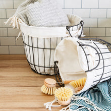 Round Wire Lined Storage Baskets from Sass & Belle