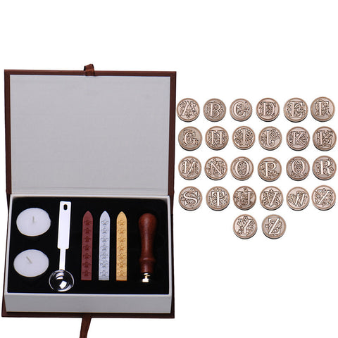 Vintage Letter Wax Seal Stamp Kit