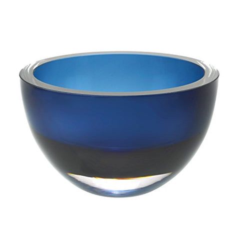 "Badash - Penelope Midnight Blue Mouth Blown European Lead Free Crystal 6"" Bowl"