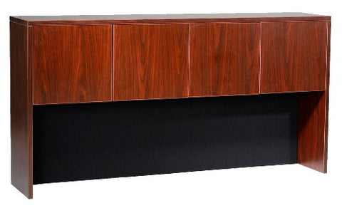 Boss 71 by 15 by 36 Hutch with Doors, Mahogany