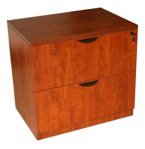 Boss Office Products N112-C 2-Drawer Lateral File in Cherry