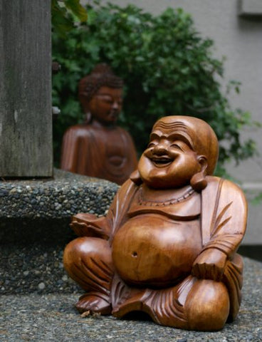Cohasset Wooden Chinese Jolly Buddha Statue