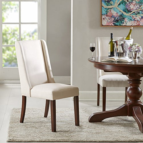 Wing Dining Chair (Set of 2) Cream/See below