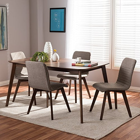 W-Sugar-Light Grey-5PC Dining Set