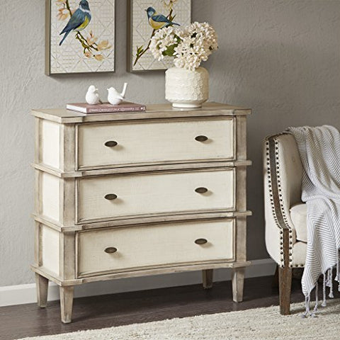 Madison Park Alcott 3 drawer chest Natural/Cream See below