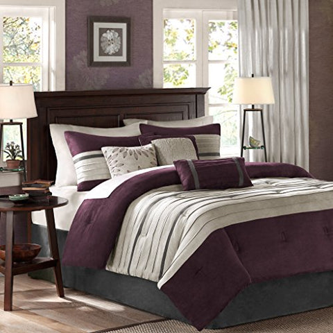 Madison Park Palmer Comforter Set, Full, Plum