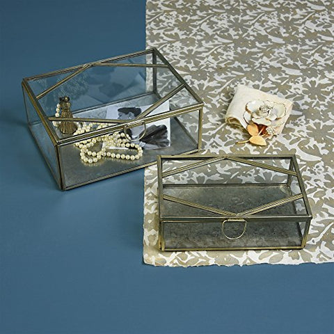 HomArt Monroe Large Rectangle Brass Box