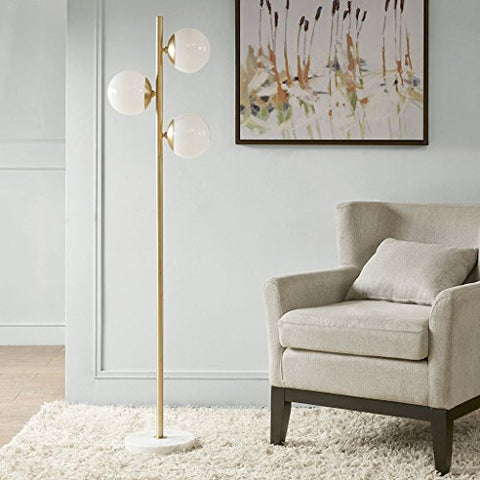 Madison Park Holloway Floor Lamp White/Gold See below