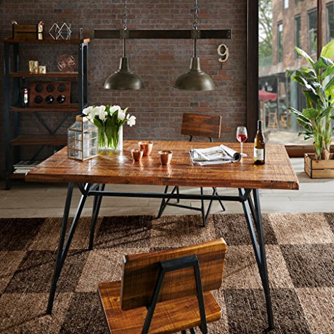 INK+IVY Trestle Dining/ Gathering Table Reclaimed Brown/ Gun Metal See below
