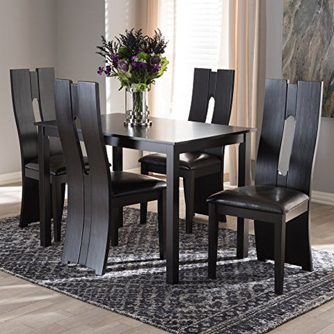 W-RH5509C-Dark Brown Dining Set