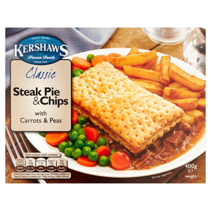 Kershaws Steak Pie & Chips