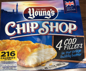 Youngs CHIP SHOP  Cod Fillets in a Crisp Bubbly Batter