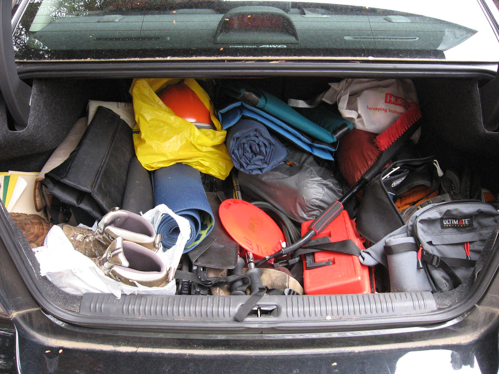 Organize your car trunk. NOW!