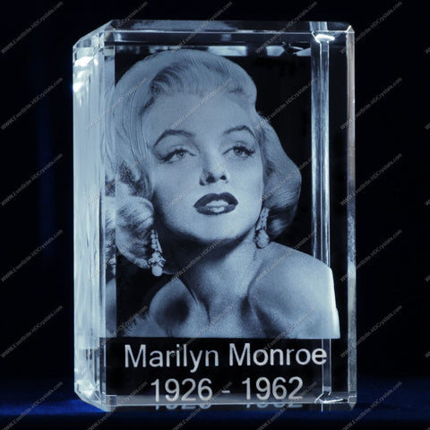 3D Laser Gift, Photo Crystal, Laser Engraved - Memorial