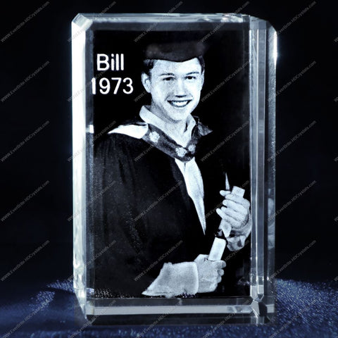 3D Laser Gift, Photo Crystal, Laser Engraved - Graduation