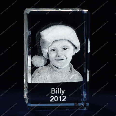 3D Laser Gift, Photo Crystal, Laser Engraved - Kids