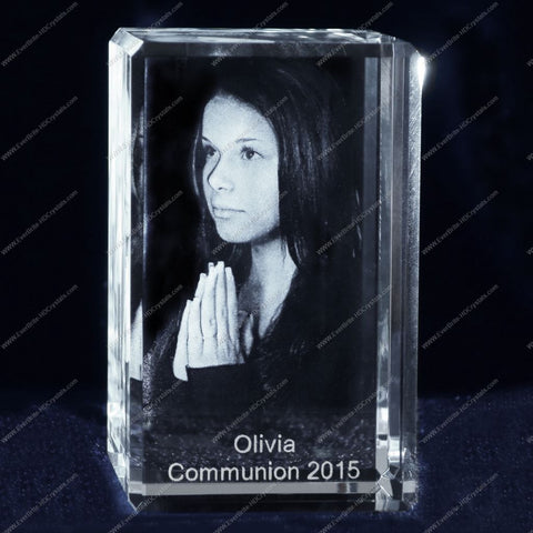 High Definition 3D Photo Crystal, Laser Engraved Gift