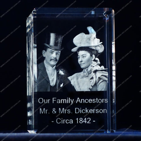 3D Laser Gift, Photo Crystal, Laser Engraved, High Definition