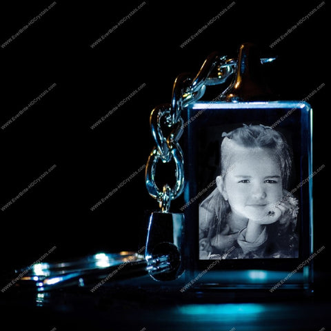 3D Laser Gift, Photo Crystal, Laser Engraved - Key Chain