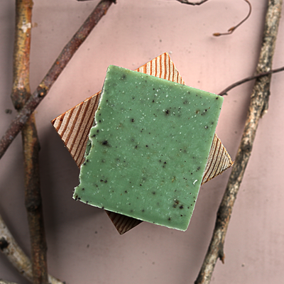 Basil Mint & Coffee Soap