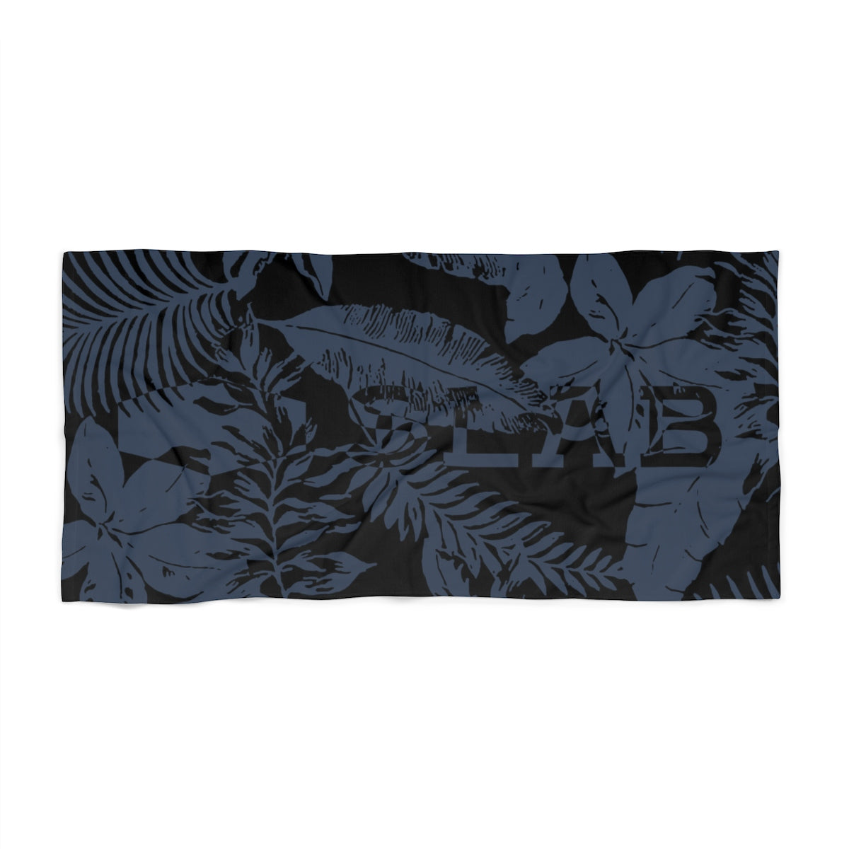 SLAB Palm Midnight Beach Towel