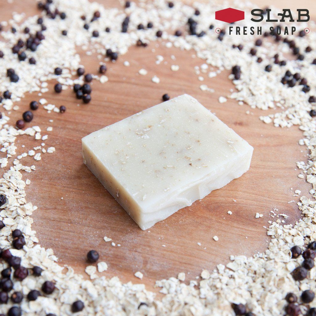 Cedar Juniper Oatmeal Soap | Castile Soap | SLAB FRESH SOAP™