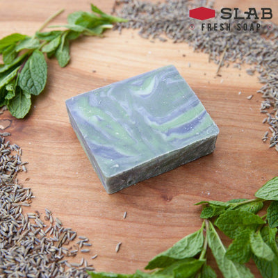 Lavender Mint Soap | Castile Soap | SLAB FRESH SOAP™