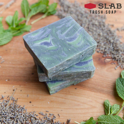 Lavender Mint Soap Stack | Castile Soap | SLAB FRESH SOAP™