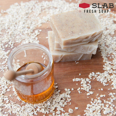 Oatmeal Honey Soap Stack | Castile Soap | SLAB FRESH SOAP™