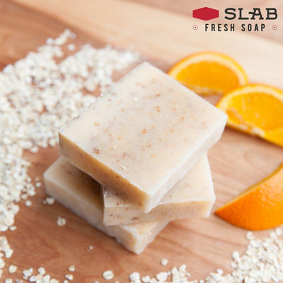 Orange Oatmeal Soap Stack | Castile Soap | SLAB FRESH SOAP™