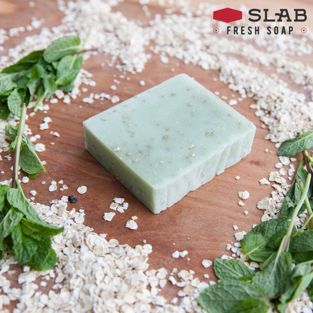 Peppermint Oatmeal Soap | Castile Soap | SLAB FRESH SOAP™