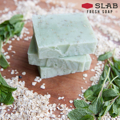 Peppermint Oatmeal Soap Stack | Castile Soap | SLAB FRESH SOAP™
