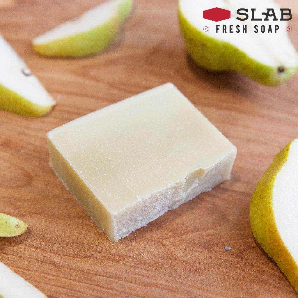Sweet Yellow Pear Soap | Castile Soap | SLAB FRESH SOAP™