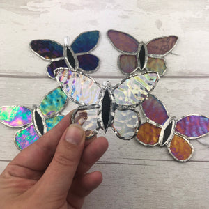 Stained Glass Bee Ornament