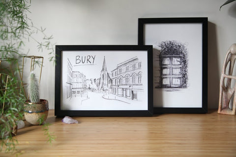 Bury Town Centre Print from Christopher Walster