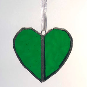 Emerald Green Heart Window Charm Gift