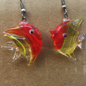 Exotic Fish Dangle Earrings