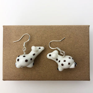 Cute White Giraffe Earrings