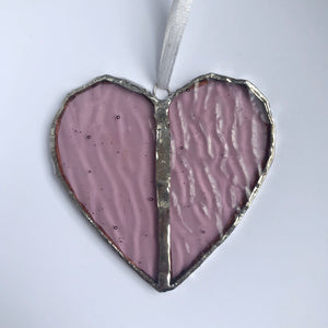 Pink Heart Stained Glass Gift