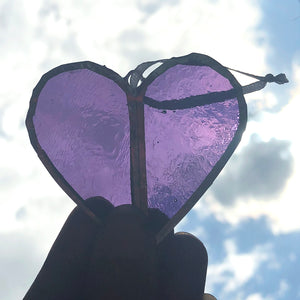 Purple Heart Window Charm Gift