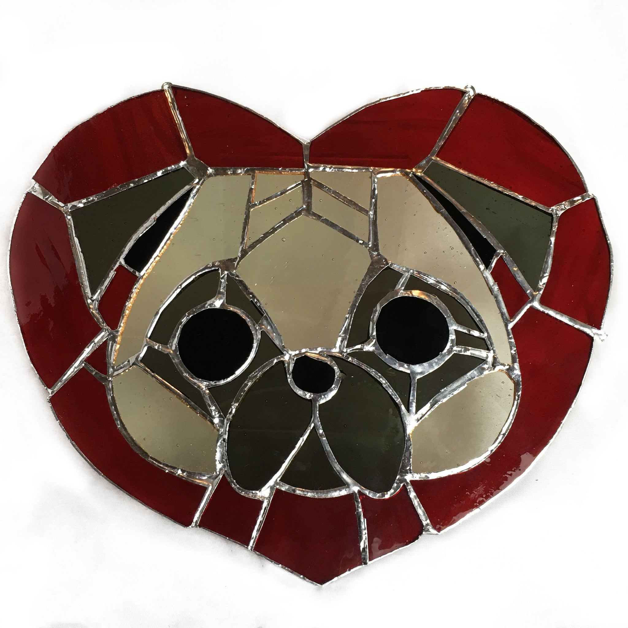 Puggy Love Panel with red heart
