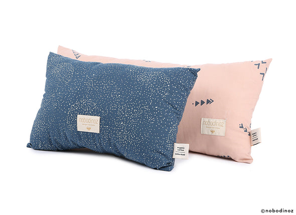 LAUREL  CUSHION - AQUA ECLIPSE/ WHITE