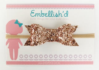Jeorgia Bow Headband - Rose Gold LIMITED EDITION!