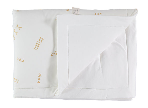 LAPONIA BLANKET -GOLD SECRETS/ WHITE