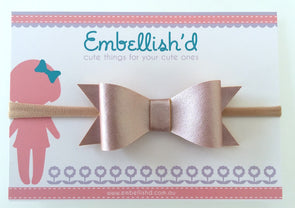 Jeorgia Bow Headband - Blush Pink