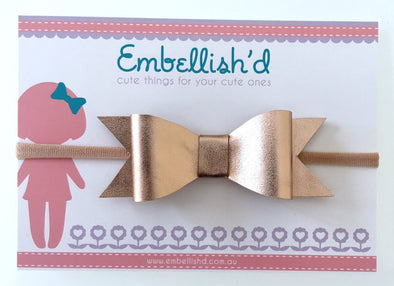 Jeorgia Bow Headband - Gold