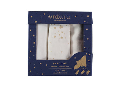 Baby Love Swaddle - GIFT BOX of 3