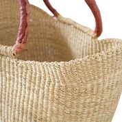 Mini Market Basket Bag- Tan Handles